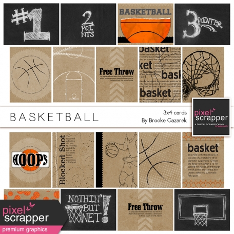 Basketball 3x4 Cards Kit