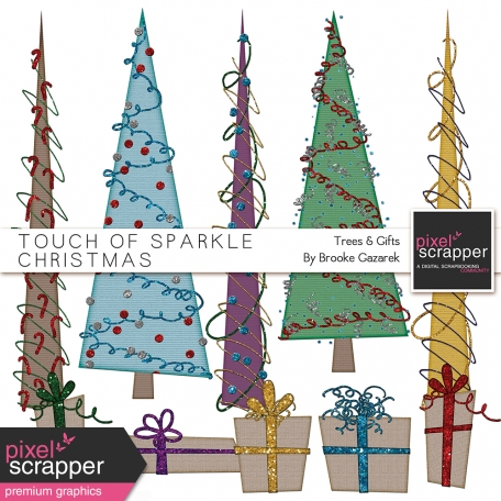 Touch of Sparkle Christmas Trees and Gifts Kit