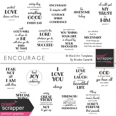 Encourage Word Art Templates Kit