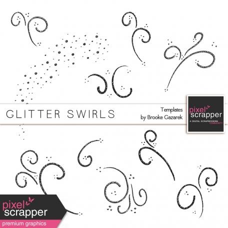 Glitter Swirl Templates Kit