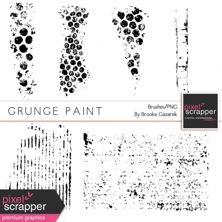 Grunge Paint Brushes Kit