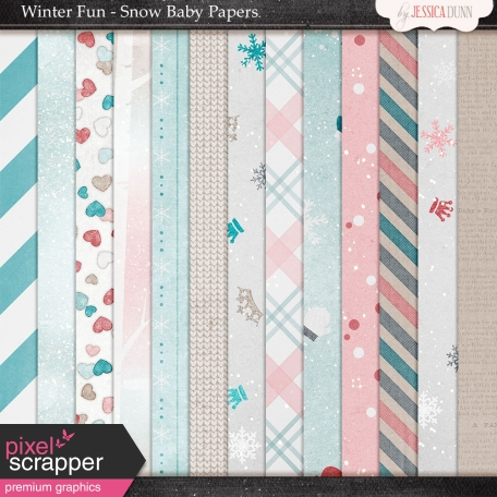 Winter Fun - Snow Baby Papers