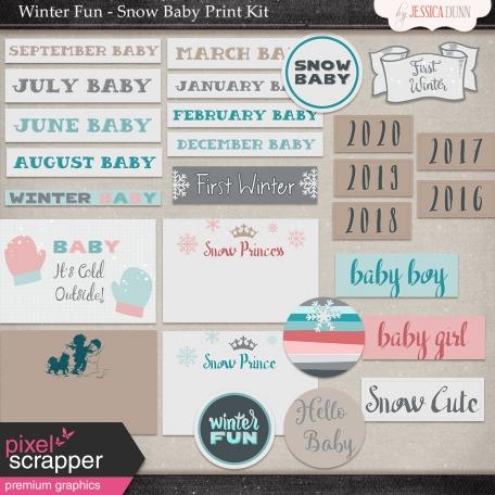 Winter Fun - Snow Baby Print Kit