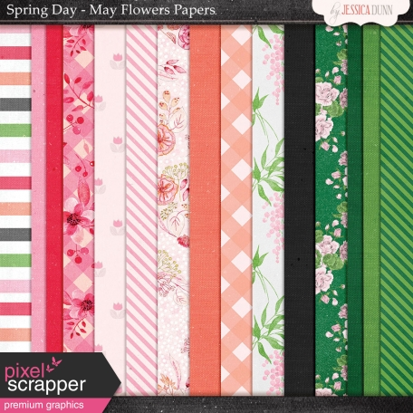 Spring Day Collab - May Flowers Papers