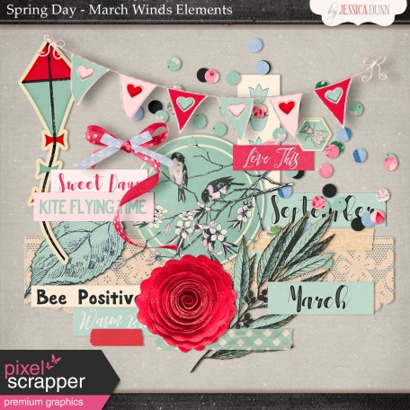 Spring Day Collab - March Winds Elements