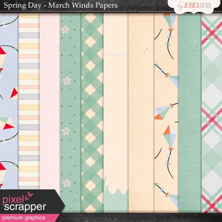 Spring Day Collab - March Winds Papers