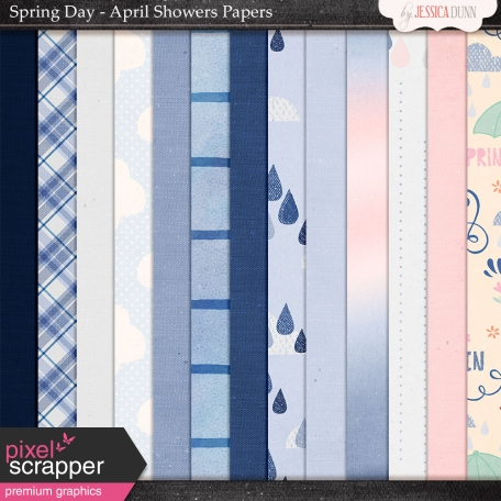 Spring Day Collab - April Showers Papers