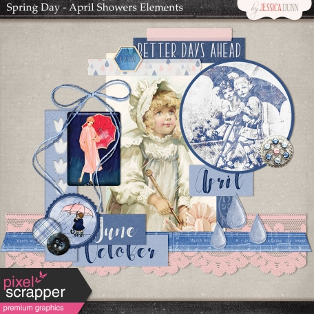 Spring Day Collab - April Showers Elements