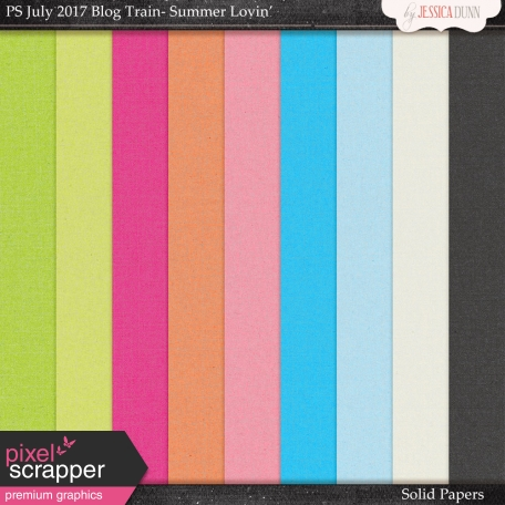 Summer Lovin' July 2017 Blog Train Solid Papers