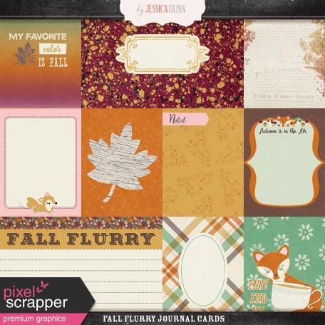 Fall Flurry Journal Cards