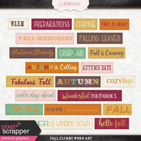Fall Flurry Word Art