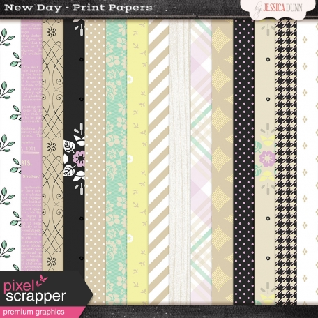 New Day Print Kit Papers