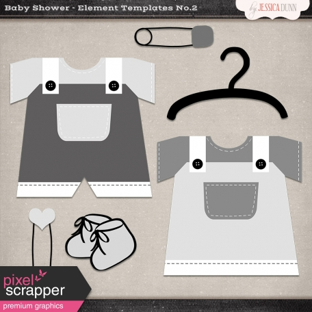 Baby Shower Element Templates No 2