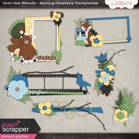 Into the Woods - Spring Clusters Templates