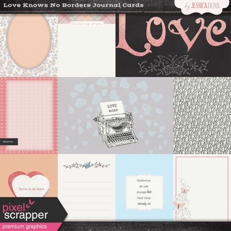 Love Knows No Borders - Journal Cards