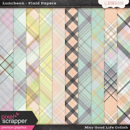 Luncheon Plaid Papers