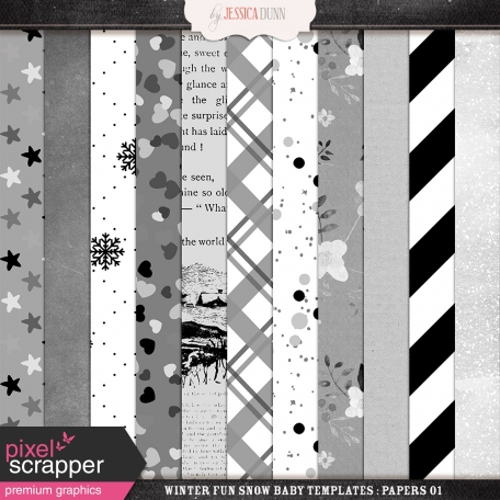 Winter Fun Snow Baby Templates - Papers 01