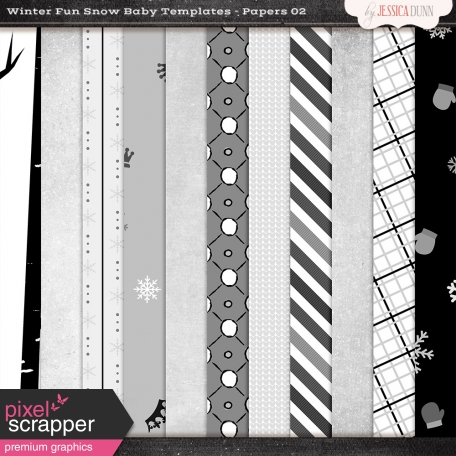 Winter Fun Snow Baby Templates - Papers 02