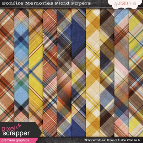 Bonfire Memories Plaid Papers