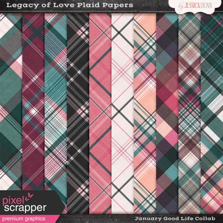 Legacy of Love Plaid Papers