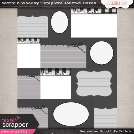 Warm n Woodsy Journal Card Templates