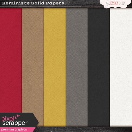 Reminisce Solid Papers Kit
