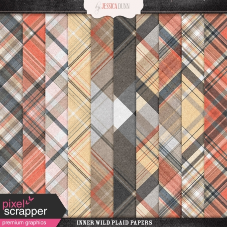 Inner Wild Plaid Papers