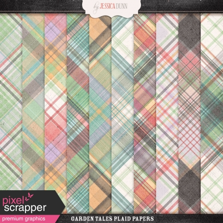 Garden Tales Plaid Papers