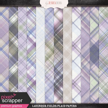 Lavender Fields Plaid Papers
