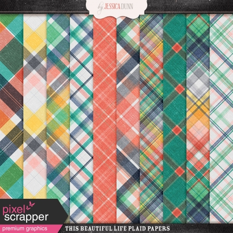 This Beautiful Life Plaid Papers
