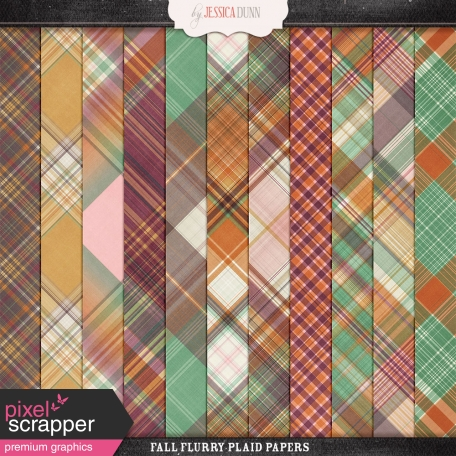 Fall Flurry Plaid Papers