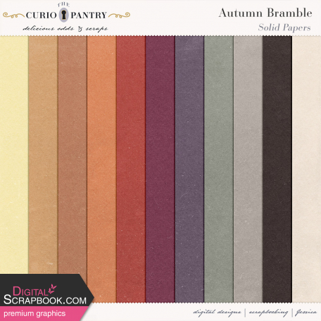 Autumn Bramble Solid Papers
