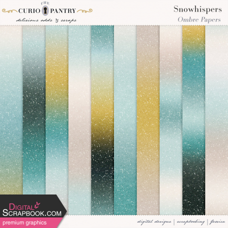 Snowhispers Ombre Glitter Papers