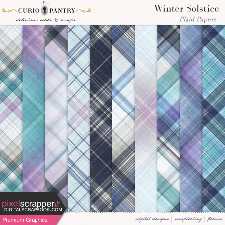 Winter Solstice Plaid Papers