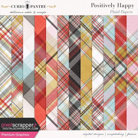 Positively Happy Plaid Papers