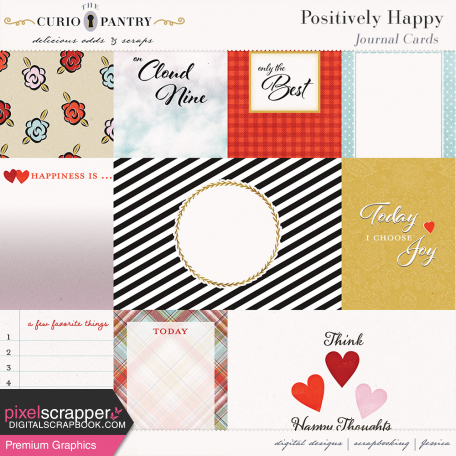 Positively Happy Journal Cards
