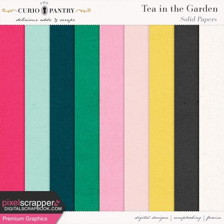 Tea in the Garden Solid Papers