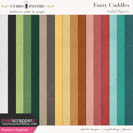 Furry Cuddles Solid Papers