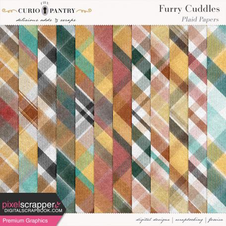 Furry Cuddles Plaid Paper