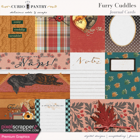Furry Cuddles Journal Cards