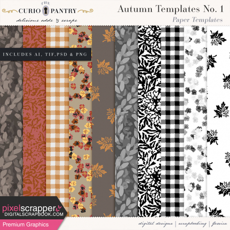 Autumn Templates No. 1 - Papers