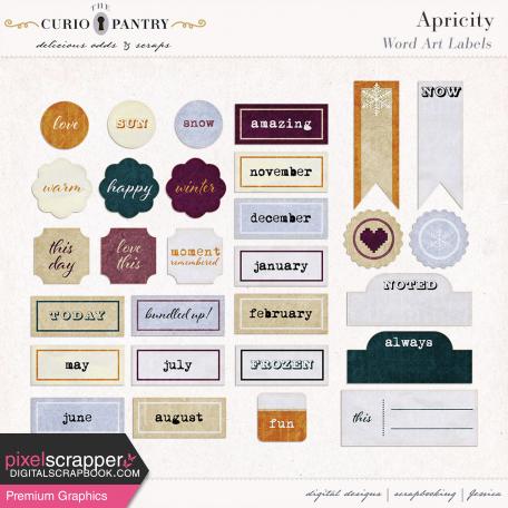 Apricity Word Art Labels