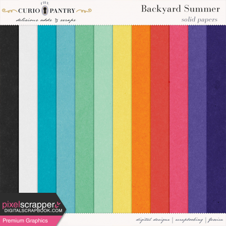 Backyard Summer Solid Papers