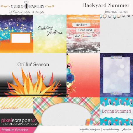 Backyard Summer Journal Cards