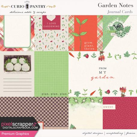 Garden Notes Journal Cards
