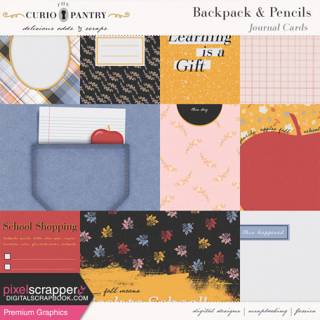 Backpack and Pencils Journal Cards