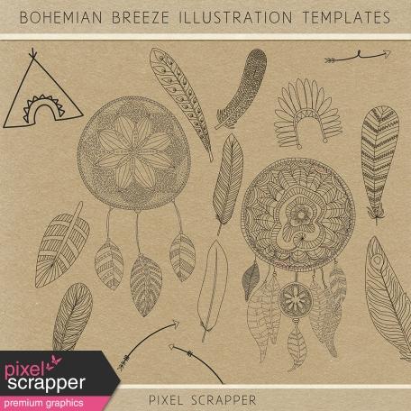 Bohemian Breeze Illustration Templates Kit