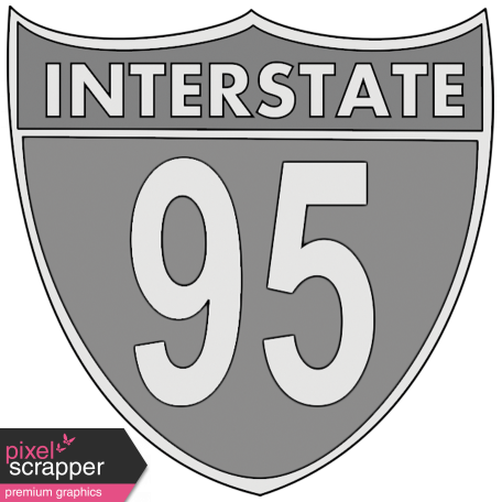 Interstate 95 Sign Template
