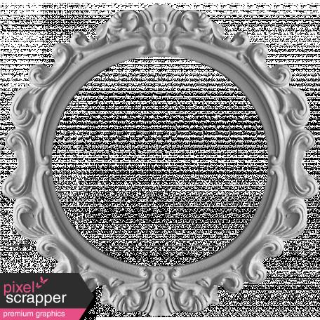 Ornate Round Frame Template