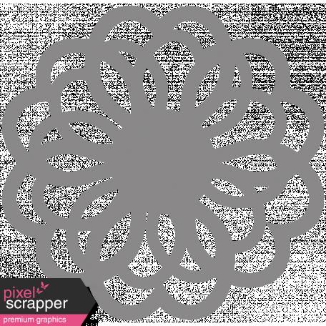 Flower Doily Shape Template Graphic By Sheila Reid Pixel Screr Digital Sbooking